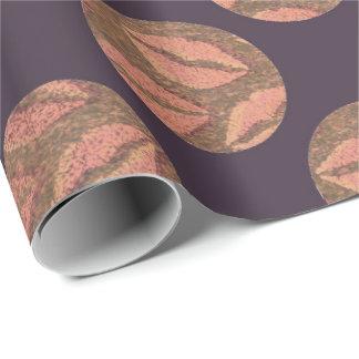 Papel De Presente Lábios pretos de cobre cor-de-rosa Pantone do