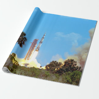 Papel De Presente Lançamento da NASA Apollo 16 Saturn V Rocket