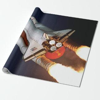 Papel De Presente Lançamento STS-45 de Atlantis do vaivém espacial