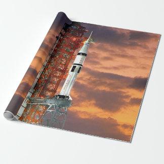 Papel De Presente Launchpad do nascer do sol do veículo de
