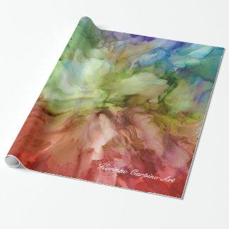Papel De Presente Lenço de papel floral abstrato das pétalas