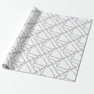 Papel De Presente Letra K da estrela do arco-íris