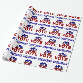 Papel De Presente Libertário do voto