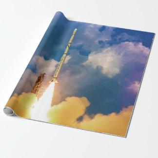 Papel De Presente Liftoff do lançamento de Rocket do escuteiro da