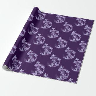 Papel De Presente Lilac no círculo
