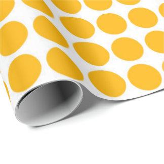 Papel De Presente Limão branco de Polkadot do círculo das bolinhas -