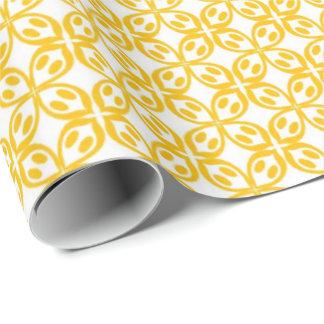 Papel De Presente Limão - impressão amarelo