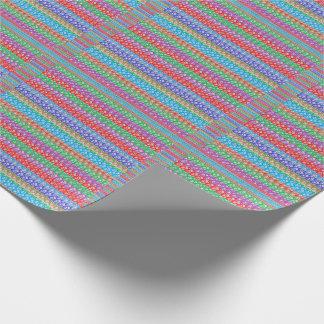 Papel De Presente Linha gráfica colorida teste padrão do papel de