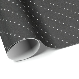 Papel De Presente Linhas brancas pretas elegante delicado das