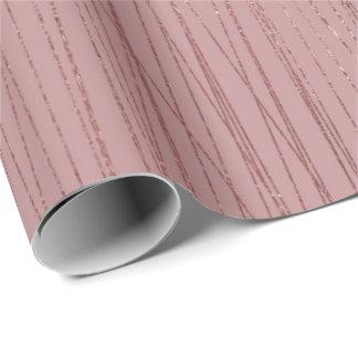 Papel De Presente Linhas delicadas cor-de-rosa das listras do feijão