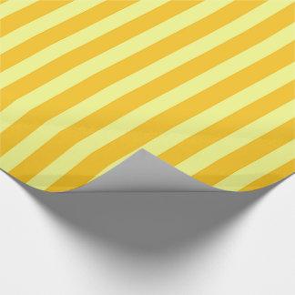 Papel De Presente Listras amarelas e alaranjadas