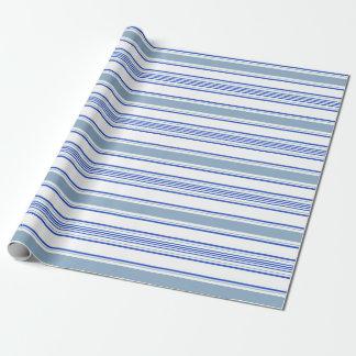 Papel De Presente listras azuis e brancas