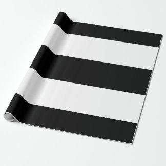 Papel De Presente Listras brancas pretas