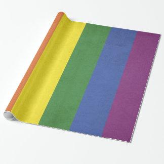 Papel De Presente Listras do arco-íris