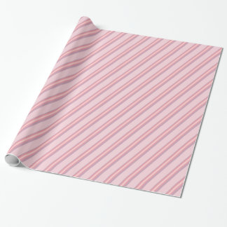 Papel De Presente Listras do rosa cor-de-rosa no design cor-de-rosa,