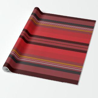 Papel De Presente Listras - horizonte vermelho