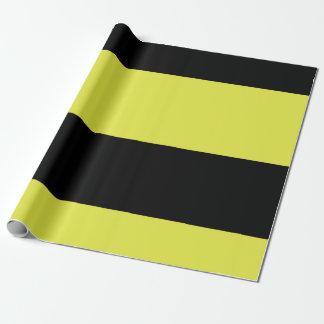 Papel De Presente Listras pretas e amarelas