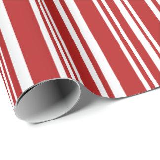 Papel De Presente Listras vermelhas e brancas misturadas modernas