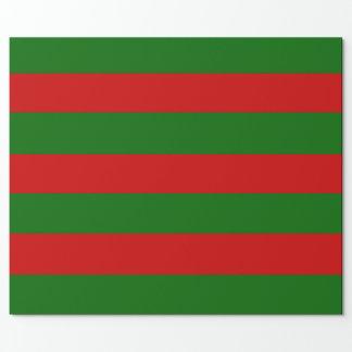 Papel De Presente Listras vermelhas e verdes