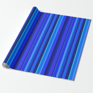Papel De Presente Listras verticais azuis