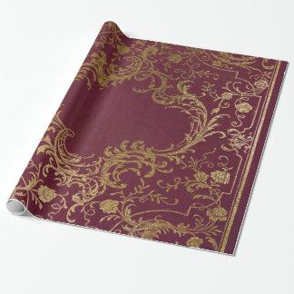 Papel De Presente Livro encadernado de couro do vintage