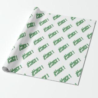 Papel De Presente Logotipo verde do felz pascoa