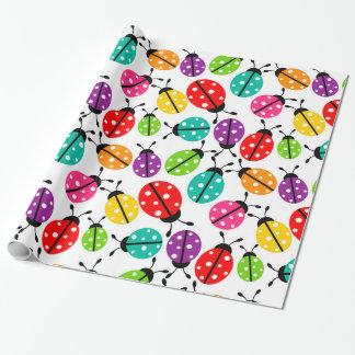 Papel De Presente Lotes de joaninhas coloridos pastel