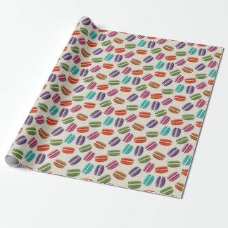 Papel De Presente Macaroon colorido com meringue doce