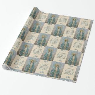 Papel De Presente Mãe Mary do Virgin com lírios & oração