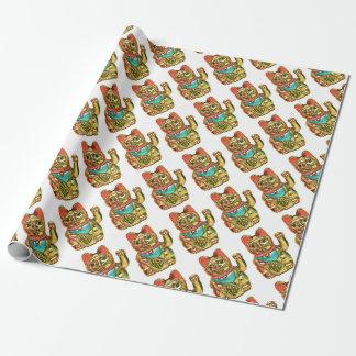 Papel De Presente Maneki-neko, gato afortunado, Winkekatze