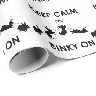 Papel De Presente Mantenha a calma e o Binky no papel de