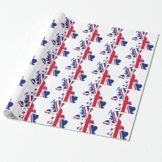 Papel De Presente Mapa BRITÂNICO da bandeira