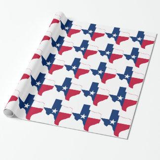 Papel De Presente Mapa da bandeira de Texas