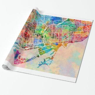 Papel De Presente Mapa de ruas da cidade de Toronto