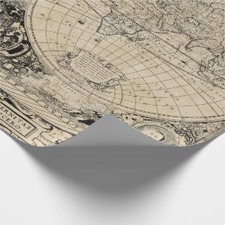 Papel De Presente Mapa de Velho Mundo