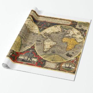 Papel De Presente Mapa do mundo antigo #2