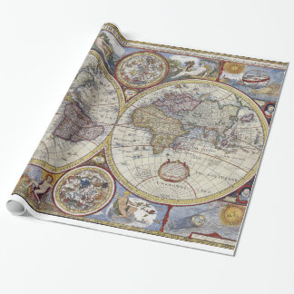 Papel De Presente Mapa do mundo antigo #3