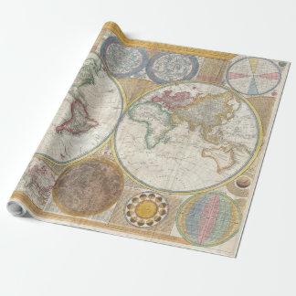 Papel De Presente Mapa do mundo do vintage