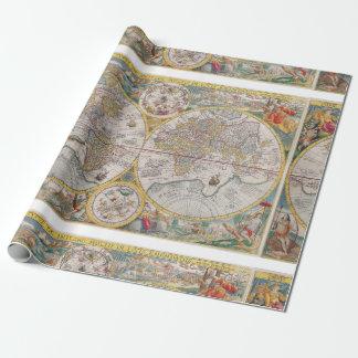 Papel De Presente Mapa do mundo medieval desde 1525