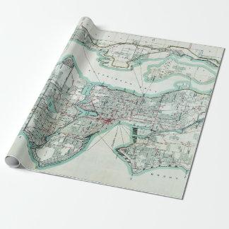 Papel De Presente Mapa do vintage de Seattle Washington