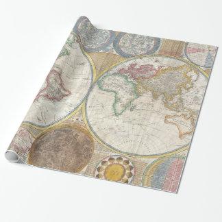 Papel De Presente Mapa velho do mundo