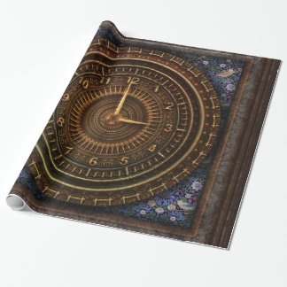Papel De Presente Maquinismo de relojoaria de cobre antiquado do