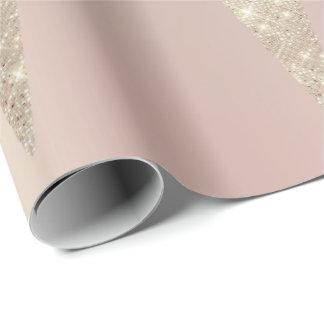 Papel De Presente Marfim perolado cor-de-rosa metálico do chocolate