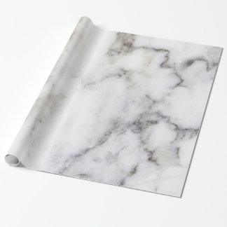 Papel De Presente Mármore branco & cinzento do falso