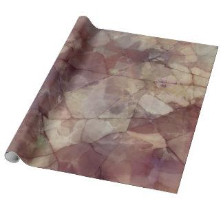 Papel De Presente Mármore cor-de-rosa de Brown