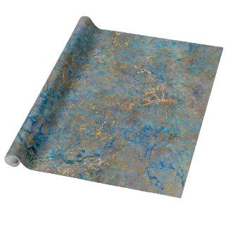Papel De Presente Mármore luxuoso do Lazuli de Lapis