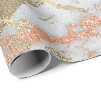 Papel De Presente Mármore mais foxier cinzento de cobre VIP metálico