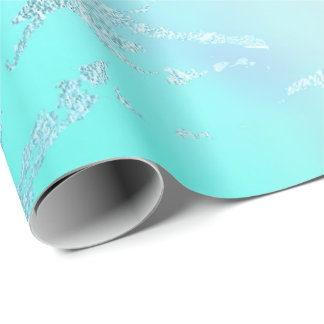 Papel De Presente Mármore roxo Pastel azul da hortelã luxuosa do