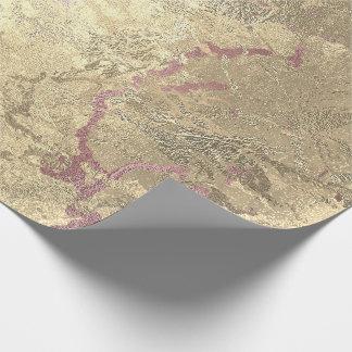 Papel De Presente Metal cor-de-rosa derretido sujo do mármore do
