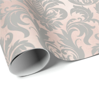 Papel De Presente Metálico Pastel cinzento do cobre do ouro do rosa
